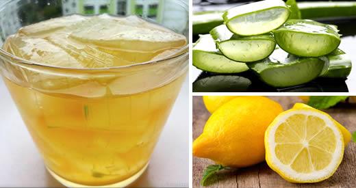 aloe vera da bere per dimagrire e limone